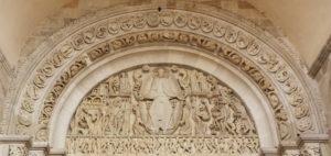 tympan de la cathédrale d'Autun réalisé par Gislebertus