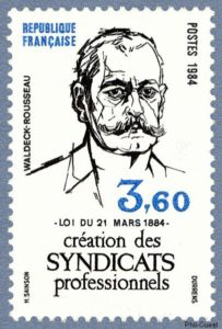 timbre de1984 à l'effigie de Pierre Waldeck-Rousseau
