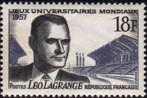 timbre à l'effigie de Léo Lagrange