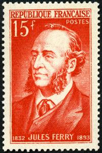 timbre à l'effigie de Jules ferry